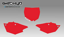 KIT ADESIVI GRAFICHE TABELLE RED YAMAHA YZF 250 2014 - 2017 DECALS PLATES KIT