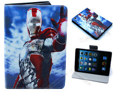 For Apple iPad Mini 1 2 3 Marvel Comics Super Hero Iron Man Stand Case Cover