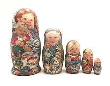 Unique Russian Nesting DOLL Hand Painted Babushka