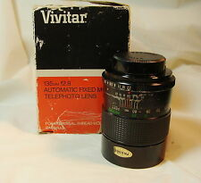 VIVITAR 135MM 12.8 CAMERA LENS AUTO FIXED MOUNT