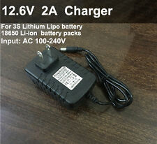 12.6V 2A Smart Charger AC/DC Adapter for 11.1V Li-ion LiPo 3S Lithium Battery
