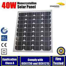 40W 12V MONO SOLAR PANEL GENERATOR CARAVAN BOAT BATTERY CHARGING 40 WATT POWER