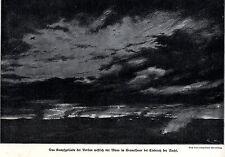 1916 stahlgewitter: lucha todo terreno en el Verdun artiIIería * Antique Print