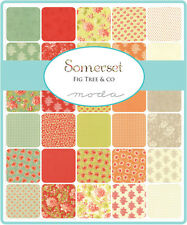 """5 Somerset Fig Tree Quilts Moda  Quilt Fabric 5 Charm Packs 210   5"""" squares"""