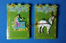 Tangled Paris Christmas Sleigh 2 Pin Set Rapunzel Flynn Maximus LE DLRP Disney