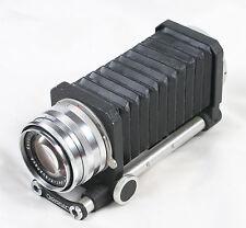 Schneider Kreuznach Xenar 105mm f/3.5 Macro Lens with Novoflex Macro Bellows