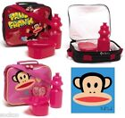 Official Paul Frank Insulated Lunch Bag Set Lunch Box Bottle School New Gift