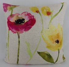 Bluebellgray Flower Field Linen Fabric Pillow Cushion Cover h/made Shabby Chic