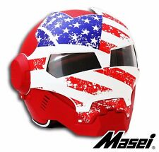 Masei 610 Matte Red Motorcycle Military Helmet Open Face Captain America ATV