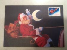 1991 Christmas Stamp FDC First Day Cover 10/17/1991 Santa, ID Postmark reindeer