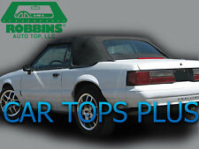 "1991-1993 Ford Mustang Black Vinyl Convertible Top & Glass ""Robbins Brand"""