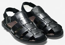 New Cole Haan Sheffield Fisherman Leather Sandals size 10.5 $150 BLACK