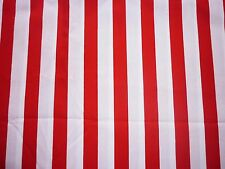 CLEARANCE YARD RED AND WHITE STRIPE FABRIC