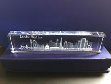 London Skyline 3D Laser Cut Crystal Glass British Souvenir Gift ( Large Size)