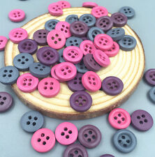 100PCS Mini Craft  MIXED Colors Wooden Buttons Sewing Scrapbooking 4 hole 11.5mm