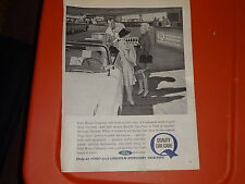 "1963 Ford Quality Car Vintage  Ad ""Ford Motor Company Cars need so little care.."