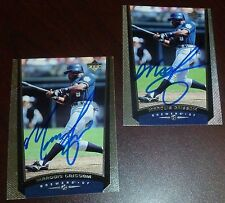 Marquis Grissom Signed 1999 Upper Deck Baseball Card Brewers Expos Braves Indian