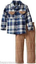 Boys Rock Boys 2 Piece Set with Woven Top and Curduroy Pant, Navy, 2T MSRP $38