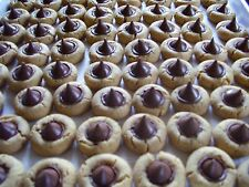 ONE DOZEN HOMEMADE FRESH PEANUT BUTTER HERSHEY CHOCOLATE KISS BLOSSOM COOKIES