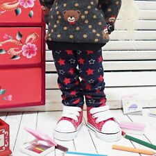 bjd yosd 1/6 doll clothes, pants red stsrs