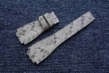 24mm White Brown GENUINE Python LEATHER SKIN WATCH STRAP BAND for Bell & Ross
