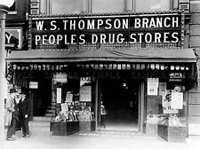 Vintage PHOTOGRAPHIE N&B POPULAIRE PHARMACIE 15 New York Poster Print lv4859