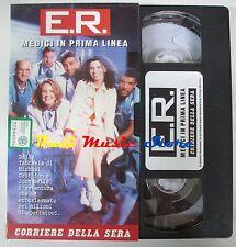 film VHS E.R. MEDICI IN PRIMA LINEA 1 CARTONATA Corriere della Sera(F15*) no dvd