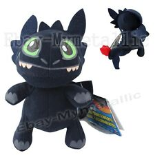 """How To Train Your Dragon Toothless 15cm/6"""" Soft Plush Stuffed Doll Toy Size S"""