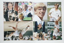 Boris Becker 16 page mini booklet cuttings clippings Germany 1980s