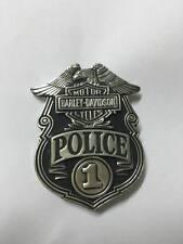 Harley Davidson Eagle Police 1 Badge Great Motorcycle HOG Belt Biker HTF VTG
