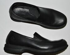 TIMBERLAND PRO PRECISE SZ 10 10.5 M BLACK LEATHER LOAFERS FLATS SHOES