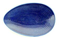 A Hertha Bengtson Bla Ed serving dish for Rorstrand. Blue Fire. A
