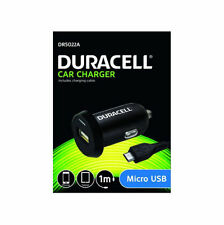New Genuine Duracell In-Car MicroUSB Charger Black, 1m (DR5022A)