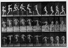 Eadweard Muybridge Woman Performing Running Straight High Jump 1887 POSTCARD