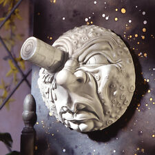 Jules Verne Inspired A Trip to the Moon Designer Resin Moon Wall Sculpture