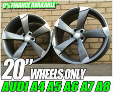 """20"""" ROTOR 5 ARM TTRS STYLE ALLOY WHEELS AUDI A4 RS4 A5 RS5 S5 A6 A8 5X112 NEW"""