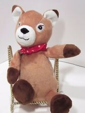 "KINDER SURPRISE DEER/ FAWN Red Bandana  10"" Doll Plush Advertising Chocolate EUC"