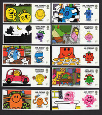 2016 MR MEN SMILERS Set of Ten SINGLE LITHO STAMPS + LABELS from LS101