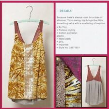 Anthropologie Tiny  Sequin Stripe Tank, Size Medium