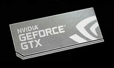 Large Nvidia GeForce GTX Silver Chrome Sticker 14.5 x 34mm