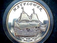 GILBERT ISLANDS KIRIBATI 2014 DOLLAR, MAYFLOWER SAILING SHIP FANTASY COIN, UNC