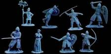 CONTE VIKINGS NORMANS THE WAR LORD WARLORD 16 FIGURES SET #1 BLUE GRAY PLASTIC