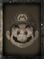 Framed Print - Vintage Style Super Mario (Picture Poster Art Nintendo NES SNES)