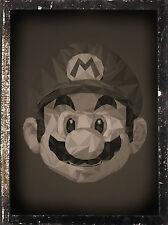 Framed Print - Vintage Style Super Mario (Picture Poster Art Nintendo NES SNES)