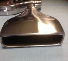 Camaro Style stainless exhaust tips muscle car one pair