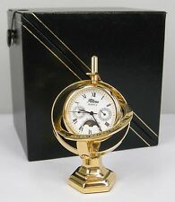 Altona Miniature Brass Globe Planetarium Clock w/ Presentation Case