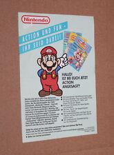 1990 Club Nintendo Alte Mitglied werden Karte / Card Werbung Flyer Super Mario