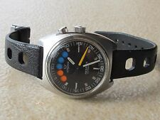 RARE VINTAGE LEMANIA REGATTA AUTOMATIC CAL.LWO 1345 SWISS MADE SERVICE JUST MADE
