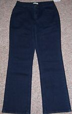 COLDWATER CREEK Blue Dark Rinse Denim Wide Leg Mid-Rise Jeans Size 10 NWT