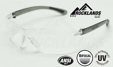 Elvex RX450™ Bifocal Safety/Reading Glasses Clear 2.5 Magnifier Z87.1 NEW